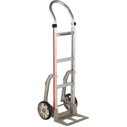 """Magliner HMA111AA15 Straight-Back Hand Truck with 8"""" Mold-On Rubber Wheels and Stair Climbers"""