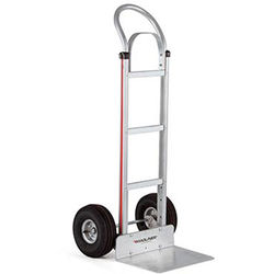 "Magliner HMA112K14 Straight-Back Hand Truck with 10"" 4-Ply Pneumatic Wheels and Brace"