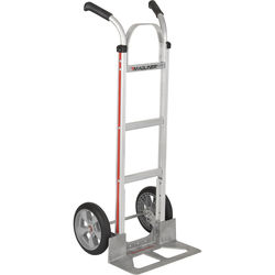 """Magliner HMA116UAF Straight-Back Hand Truck with 10"""" Microcellular Foam Wheels and Double-Grip Handle"""