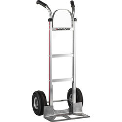"""Magliner HMA116UA4 Straight-Back Hand Truck with 10"""" 4-Ply Pneumatic Wheels and Double-Grip Handle"""
