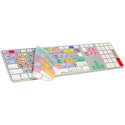 LogicKeyboard Adobe Lightroom Apple Keyboard + Adobe Photoshop Keyboard Cover Bundle