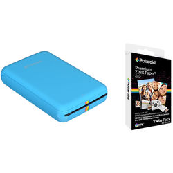 Polaroid ZIP Mobile Printer Kit with 20 Sheets of Photo Paper (Blue)