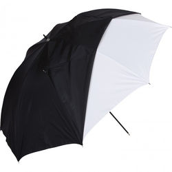 """Westcott White Satin Umbrella with Removable Black Cover (45"""")"""