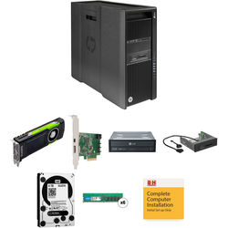 HP Z840 Series Rackable Minitower Turnkey Workstation with 64GB RAM, 4TB HDD, Quadro M6000, Blu-ray Drive, Thunderbolt 2 Card, and 15-in-1 Media Card Reader