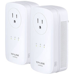 TP-Link TL-PA8030P KIT HomePlug-AV1200 3-Port Gigabit Passthrough Powerline Starter Kit