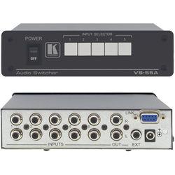 Kramer VS-55A Passive Audio Switcher, 5x1, Stereo Audio