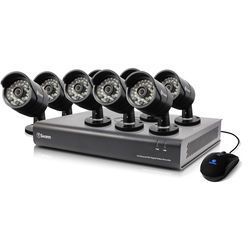 Swann 16-Channel 720p DVR with 1TB HDD and 8 720p Outdoor Bullet Cameras