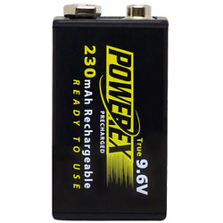 Powerex 9V Precharged Rechargeable NiMH Battery (9.6V, 230mAh)