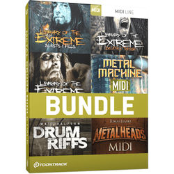 Toontrack Metal Drums MIDI 6 Pack - MIDI Files for Metal Music Production