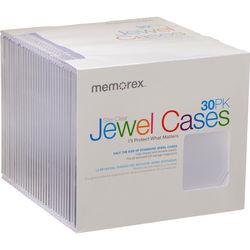 Memorex CD/DVD Slim Jewel Case (Clear, 30-Pack)