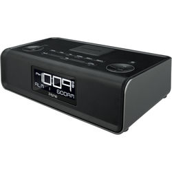 iHome iBN43 FM Clock Radio with USB Charging