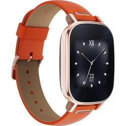 "ASUS ZenWatch 2 1.45"" Smartwatch with HyperCharge (Rose Gold Case, Orange Leather Band)"