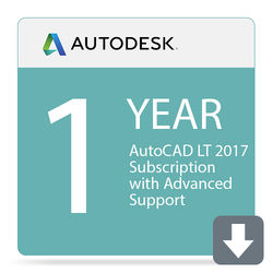 Autodesk AutoCAD LT 2017 1-Year Subscription with Advanced Support (Download)
