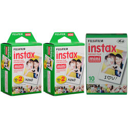Fujifilm instax mini Instant Color Film Kit (50 Shots)