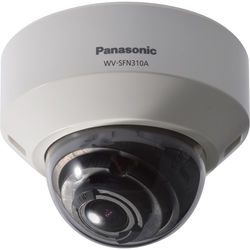 Panasonic 3 Series WV-SFN310A Super Dynamic HD Dome Network Camera with Smart Coding (Sail White)