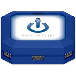 ChargeHub 7-Port USB Universal Charging Station (Square, Blue)