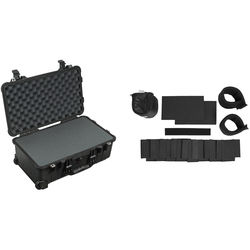 Pelican 1510 Carry-On Case with Foam with Porta Brace LongLife Divider Kit (Black)