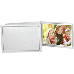 """Collector's Gallery Printed Marble Tru-View Event Folders (Horizontal 10 x 8"""" Print, 25-Pack)"""