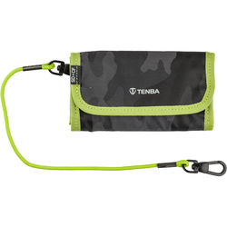 Tenba Tools Reload SD 6 + CF 6 Card Wallet (Black Camouflage/Lime)
