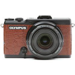 Japan Hobby Tool Camera Leather Decoration Sticker for Olympus Stylus XZ-2 Digital Camera (Crocodile Brown)