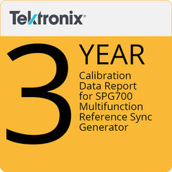 Tektronix 3-Year Calibration Data Report for SPG700 Multifunction Reference Sync Generator