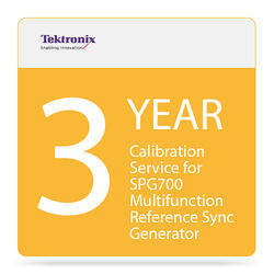 Tektronix 3-Year Calibration Service for SPG700 Multifunction Reference Sync Generator