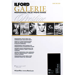 """Ilford GALERIE Prestige Gold Mono Silk Paper (13 x 19"""", 25 Sheets)"""