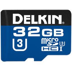 Delkin Devices 32GB microSDHC 660X UHS-I Memory Card (U3)