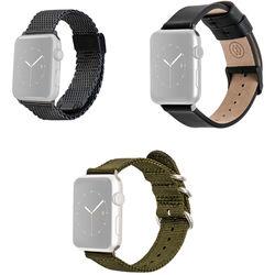 MONOWEAR Premium Watch Band Bundle for 42mm Space Gray Apple Watch