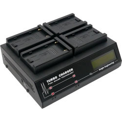 Dolgin Engineering TC400-TDM Four-Position Simultaneous Battery Charger for Sony L-Series