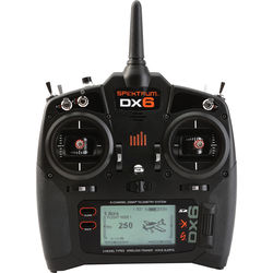 Spektrum DX6 6-Channel DSMX Transmitter for RC Aircraft (Mode 2 Only)