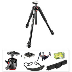 Manfrotto MT055XPRO3 Aluminum Tripod with MHXPRO-BHQ2 XPRO Ball Head Deluxe Kit