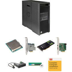 HP Z840 Series Turnkey Workstation with 2x Xeon E5-2620 v4, 32GB RAM, 1TB PCIe SSD, Quadro M4000, Thunderbolt 2 Card, and Media Card Reader