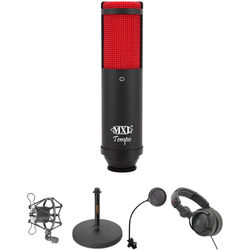 MXL Tempo USB Microphone Bundle (Black and Red)