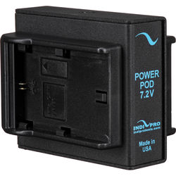 IndiPRO Tools Universal Power Pod System with Two Battery Mounts for Canon LP-E6 Type Batteries and One Sony NP-FW50 Dummy Battery for Sony A7S/A7RII Camera