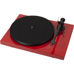 "Pro-Ject Audio Systems Debut Carbon DC Turntable with 8.6"" Carbon Fiber Tonearm (Red)"