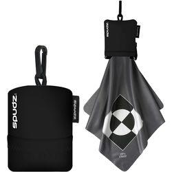 Spudz Micro Fiber Cleaning Cloth (Gray, Black Pouch, XL)