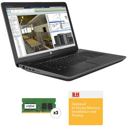 """HP 17.3"""" ZBook 17 G3 Mobile Turnkey Workstation with 64GB RAM"""