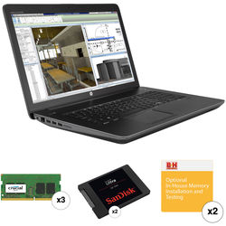 "HP 17.3"" ZBook 17 G3 Mobile Turnkey Workstation with 64GB RAM and 2 x 1TB SSDs"