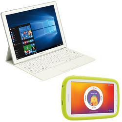"Samsung 12.0"" White Galaxy TabPro S 128GB Tablet Kit with 7.0"" White Kids Tab E Lite"