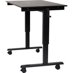 """Luxor 48"""" Crank Adjustable Stand-Up Desk (Black Oak Desk, Black Frame)"""