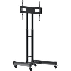 Luxor FP1000 Height-Adjustable Rolling TV Stand