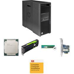 HP Z840 Series Turnkey Workstation with Xeon E5-2630 v3, 16GB RAM, 512GB PCIe SSD, and Quadro M6000