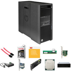 HP Z840 Series Turnkey Workstation with 2nd Xeon E5-2630 v4, 128GB RAM, 512GB SSD + 2x 5TB HDD, Quadro M5000, 15-in-1 Reader, Blu-Ray Drive, and Thunderbolt 2 Card