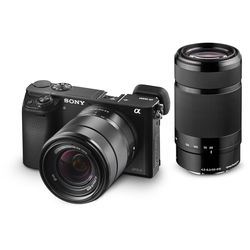 Sony Alpha a6000 Mirrorless Digital Camera with 18-55mm and 55-210mm Lenses (Black)