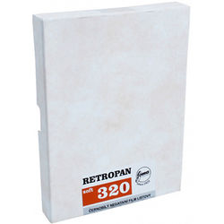 "Foma RETROPAN 320 soft Black and White Negative Film (5 x 7"", 50 Sheets)"