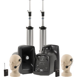 Anchor Audio MegaVox Deluxe AIR Package Dual with Two HBM-TA4F Headband Microphones