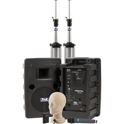 Anchor Audio Liberty Deluxe AIR PA Package Dual with One WH-8000 Wireless Handheld Mic and One LM-60 Lapel Mic