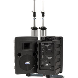 Anchor Audio Liberty Deluxe AIR Package Dual with Two WH-8000 Wireless Handheld Mics