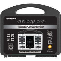 Panasonic eneloop pro High Capacity Power Pack with Charger, 8 AA and 2 AAA NiMH Batteries